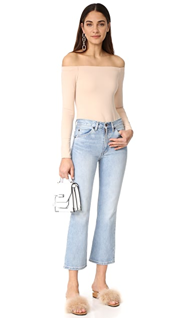 KENDALL + KYLIE Off Shoulder Long Sleeve Bodysuit