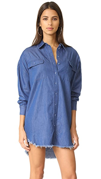 KENDALL + KYLIE Frayed Chambray Dress at Shopbop
