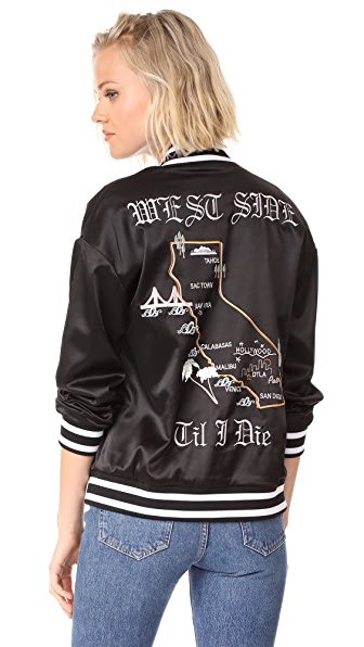KENDALL + KYLIE Embroidered Souvenir Jacket