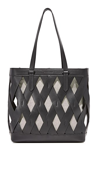KENDALL + KYLIE Dina Tote - Black/White