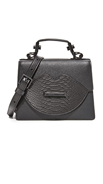 KENDALL + KYLIE Миниатюрная сумка-портфель с ручкой сверху и изображением губ