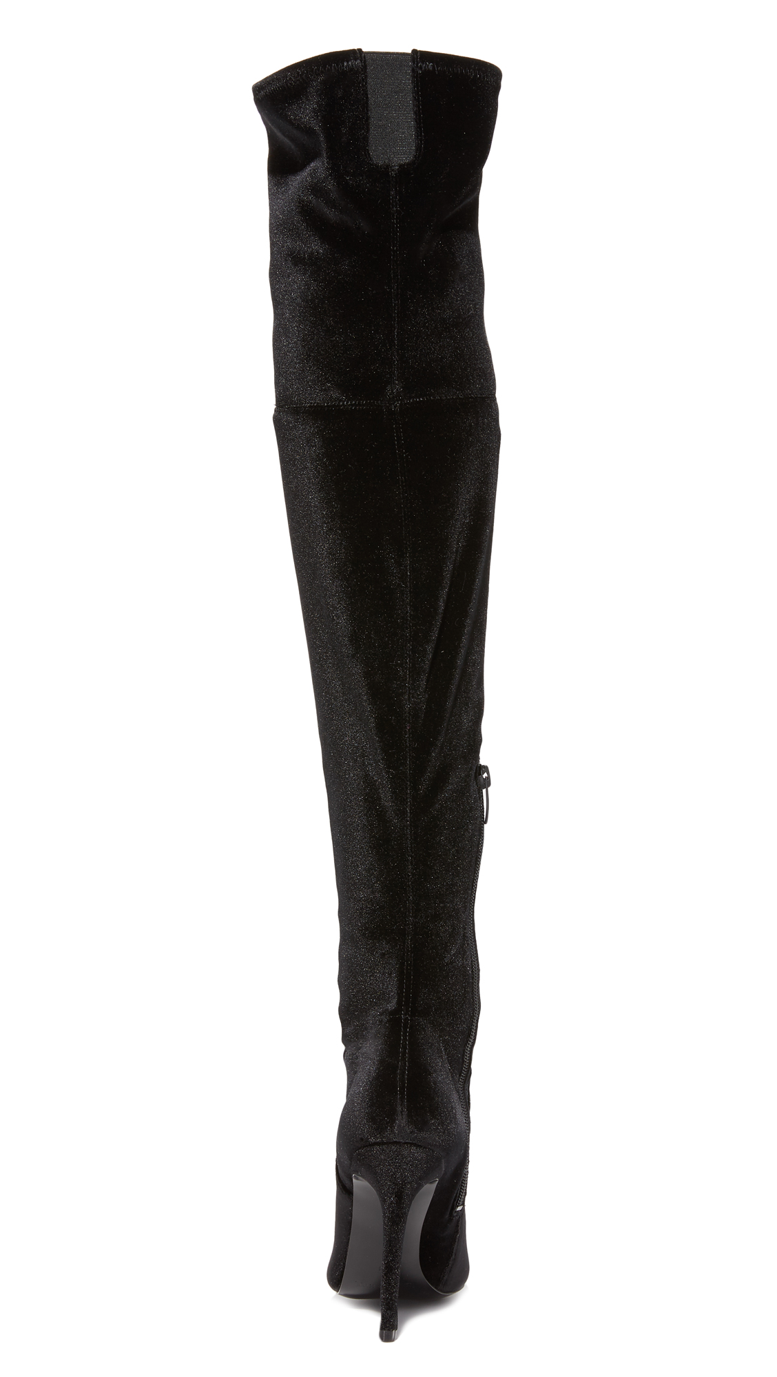 77ff14eafb9 KENDALL + KYLIE Ayla II Velvet Thigh High Boots