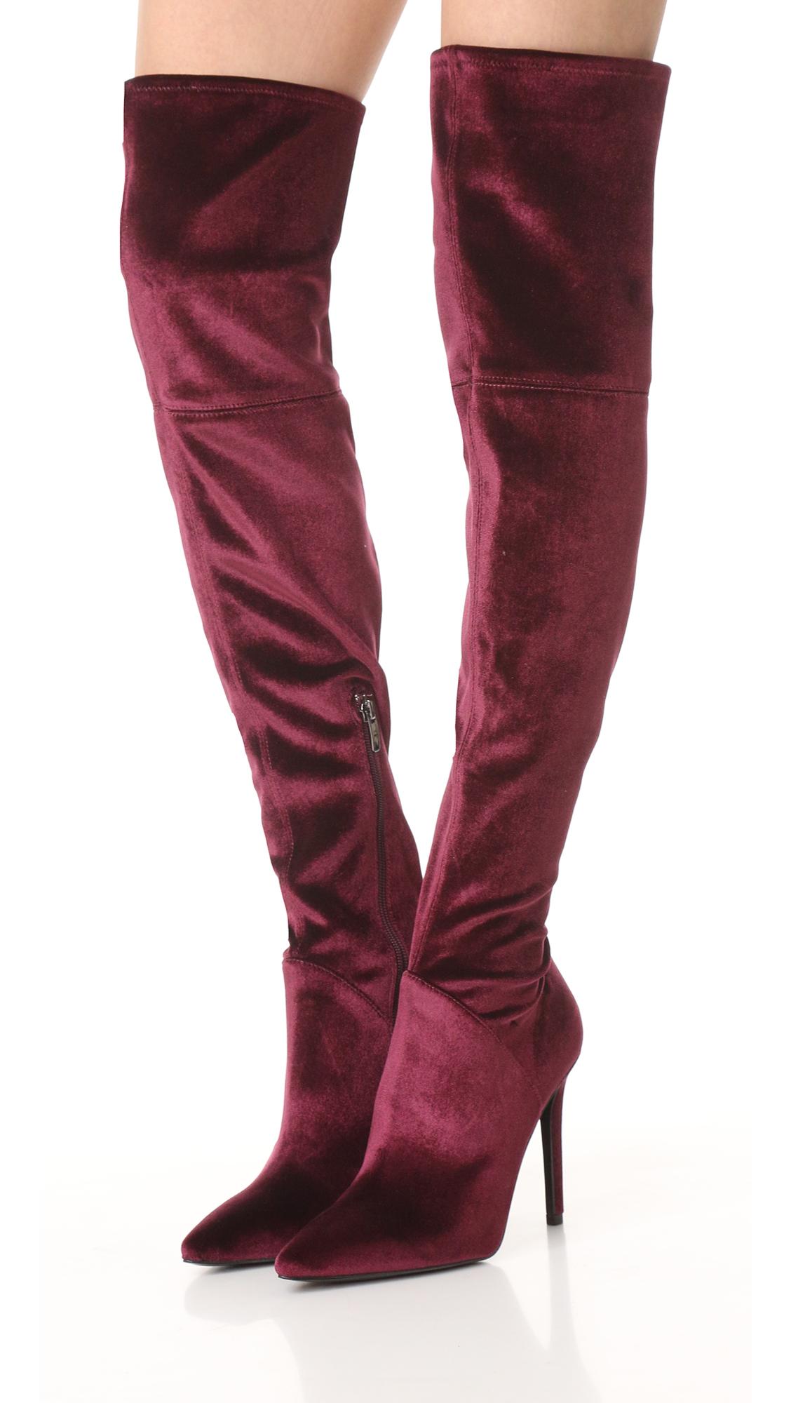 e41601f7922 KENDALL + KYLIE Ayla II Velvet Thigh High Boots