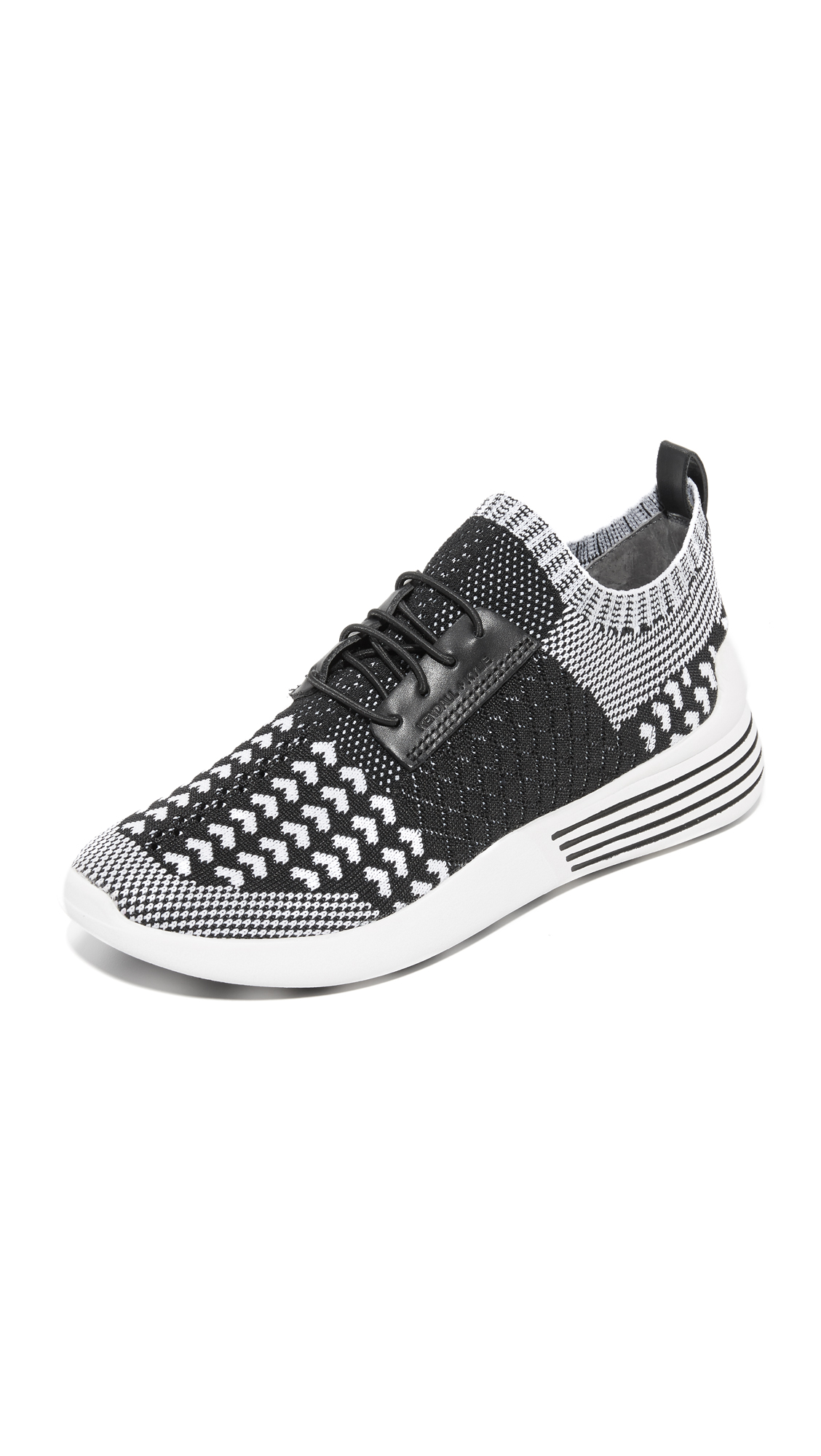 Photo of Kendall + Kylie Brandy Knit Sneakers Black Multi - KENDALL + KYLIE online