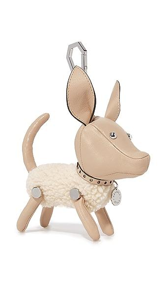 KENDALL + KYLIE Sophie Sherpa Dog Charm - Cream Tan
