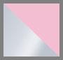 блестящий серебристый/дымчатый ярко-розовый