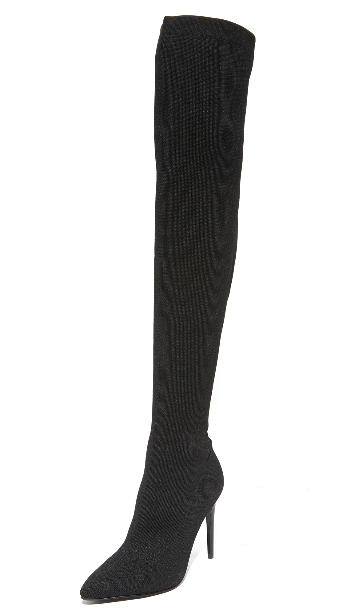 KENDALL + KYLIE Anabel II Thigh High Stretch Boots - Black
