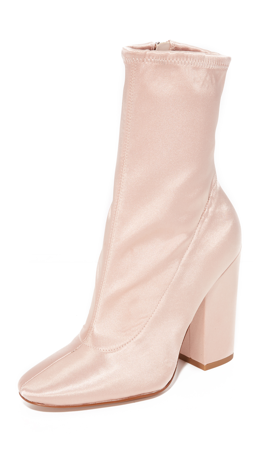 KENDALL + KYLIE Hailey Satin Booties - Blush