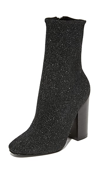 KENDALL + KYLIE Hailey Sparkle Booties - Black Multi