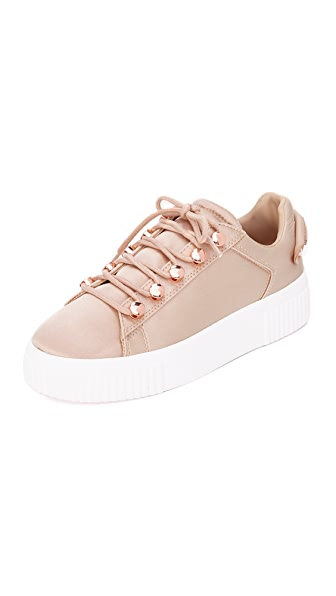 KENDALL + KYLIE Rae III Satin Sneakers In Light Pink