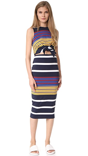 KENDALL + KYLIE Multi Stripe Dress - Multi