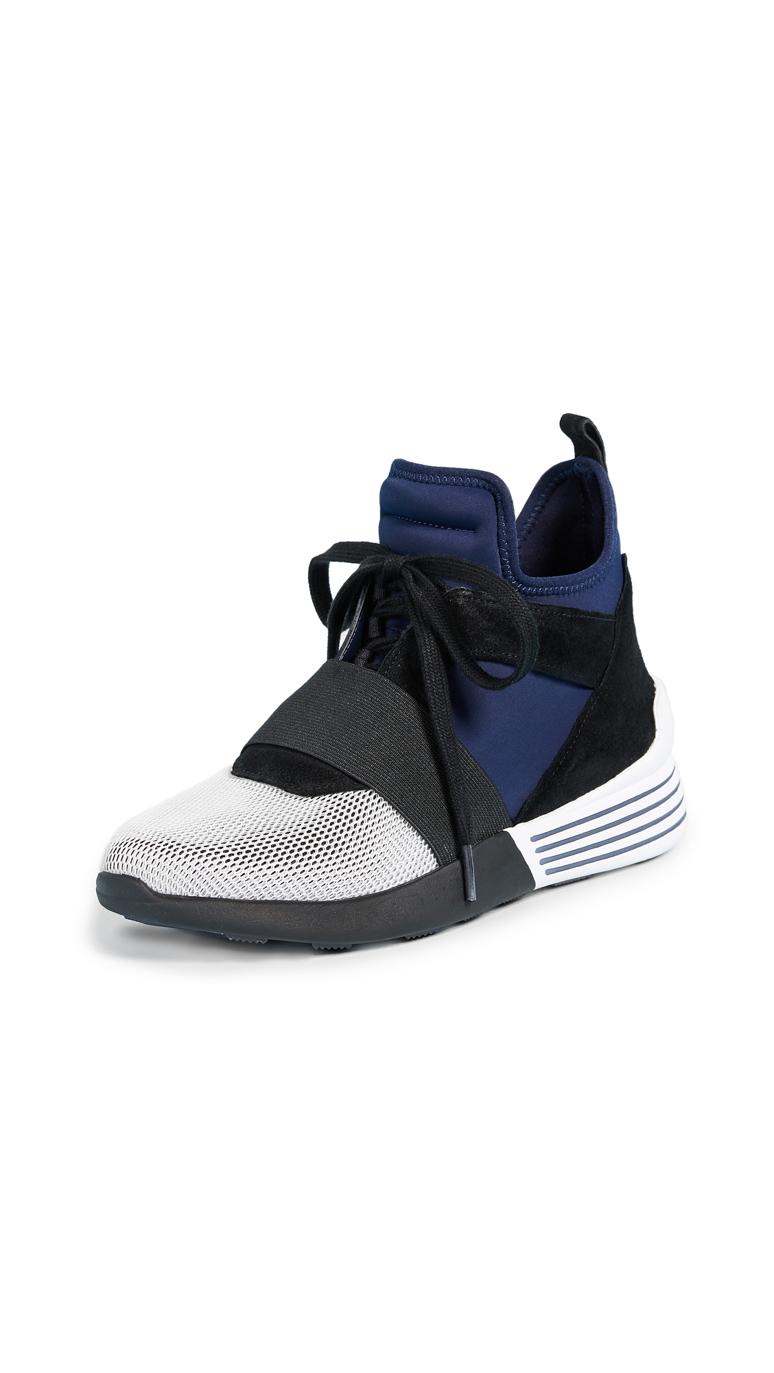 KENDALL + KYLIE Braydin Trainers - Navy/Grey