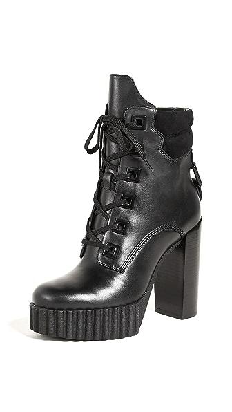 KENDALL + KYLIE Coty Platform Booties In Black/Black