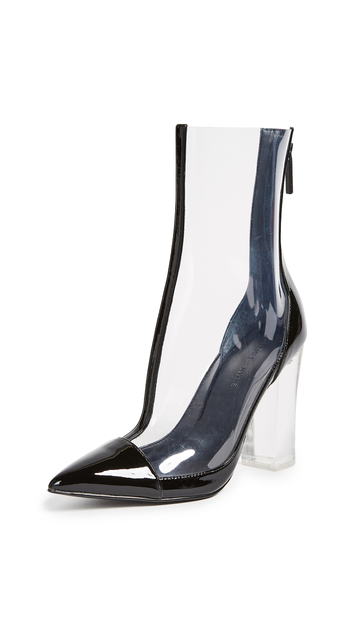KENDALL + KYLIE Haven Clear Booties - Clear/Black