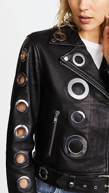 KENDALL + KYLIE Grommet Leather Jacket
