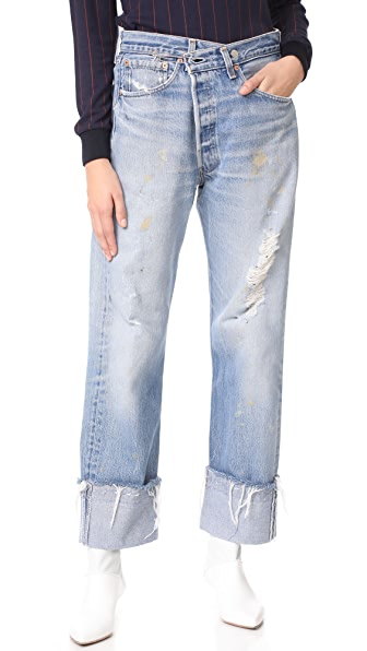 KENDALL + KYLIE Safety Pin Jeans - Medium Wash