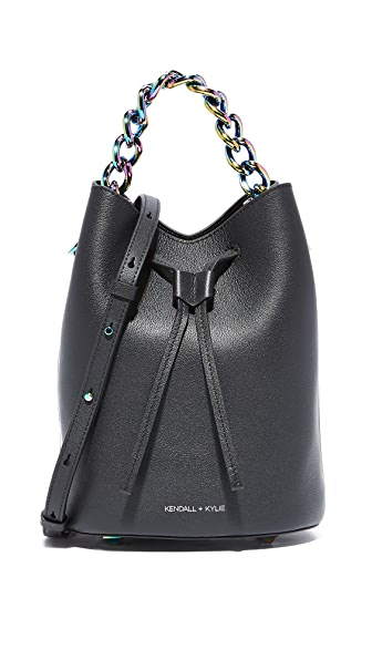 KENDALL + KYLIE Ladie Mini Bucket Bag - Black