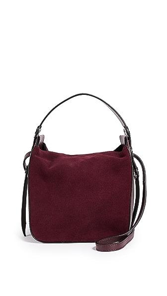 KENDALL + KYLIE Molly Mini Bucket Bag In Deep Wine