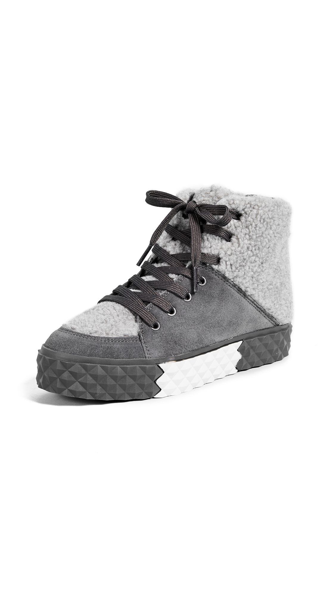 KENDALL + KYLIE Rebel Platform Sneakers - Dark Gray
