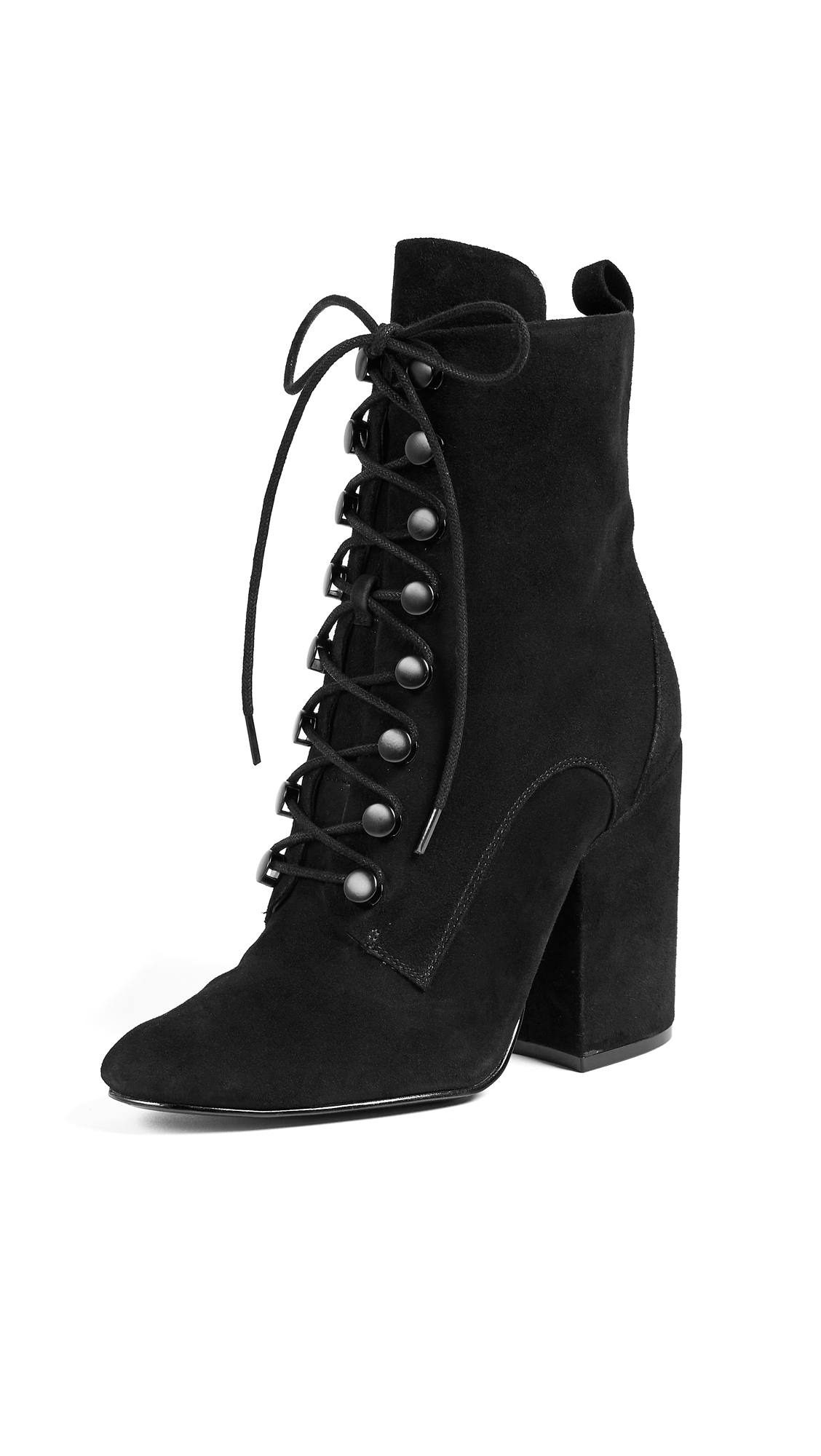 KENDALL + KYLIE Bridget Lace Up Booties - Black