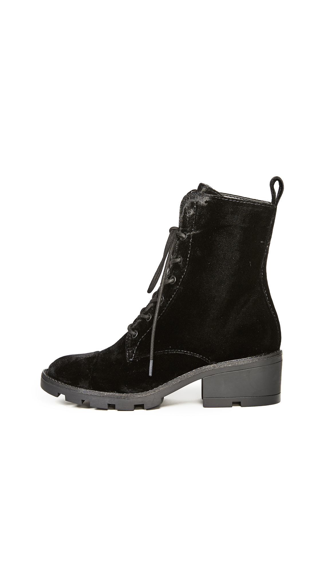 KENDALL + KYLIE Park Lace Up Booties - Black