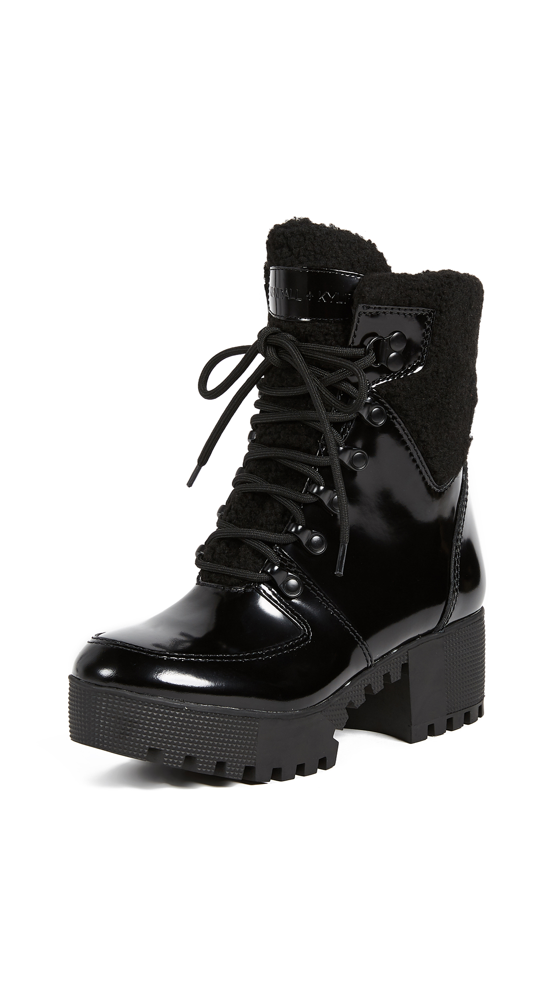 KENDALL + KYLIE Paxton Lace Up Boots - Black