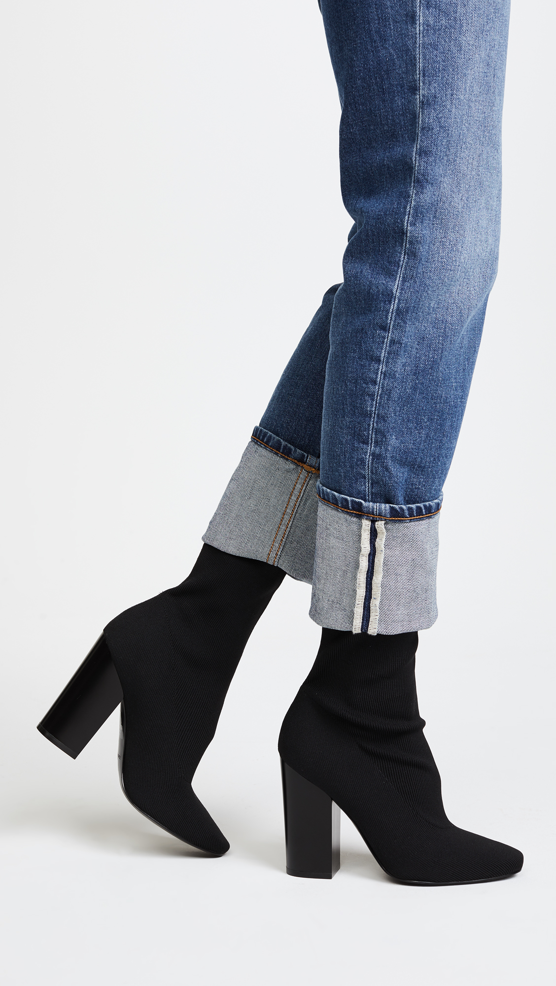 KENDALL + KYLIE Hailey Textile Booties BaGsJ