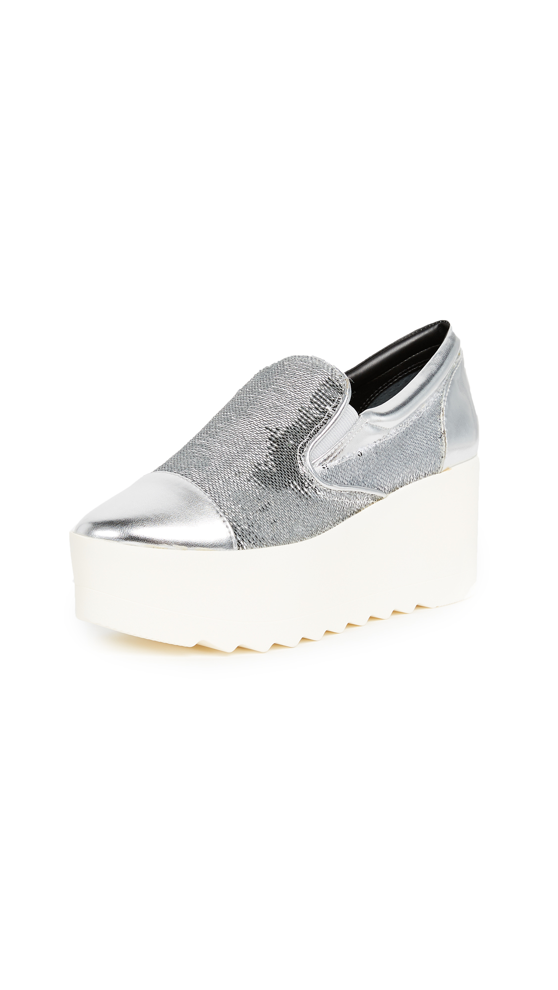 KENDALL + KYLIE Tanya Platform Sneakers - Silver Multi