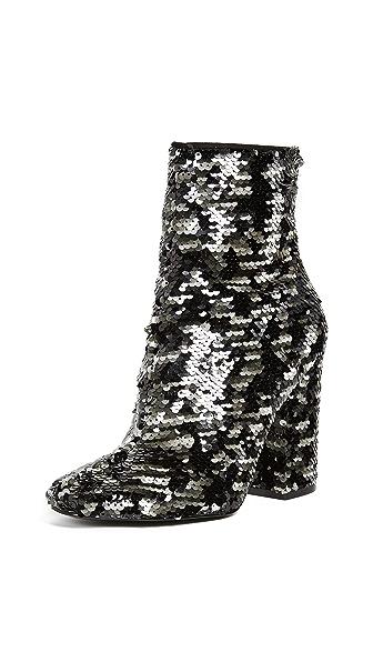 KENDALL + KYLIE Haedyn Block Heel Ankle Boots In Black Multi