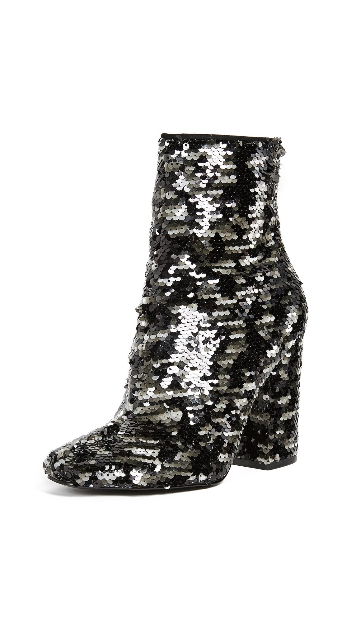KENDALL + KYLIE Haedyn Block Heel Ankle Boots - Black Multi
