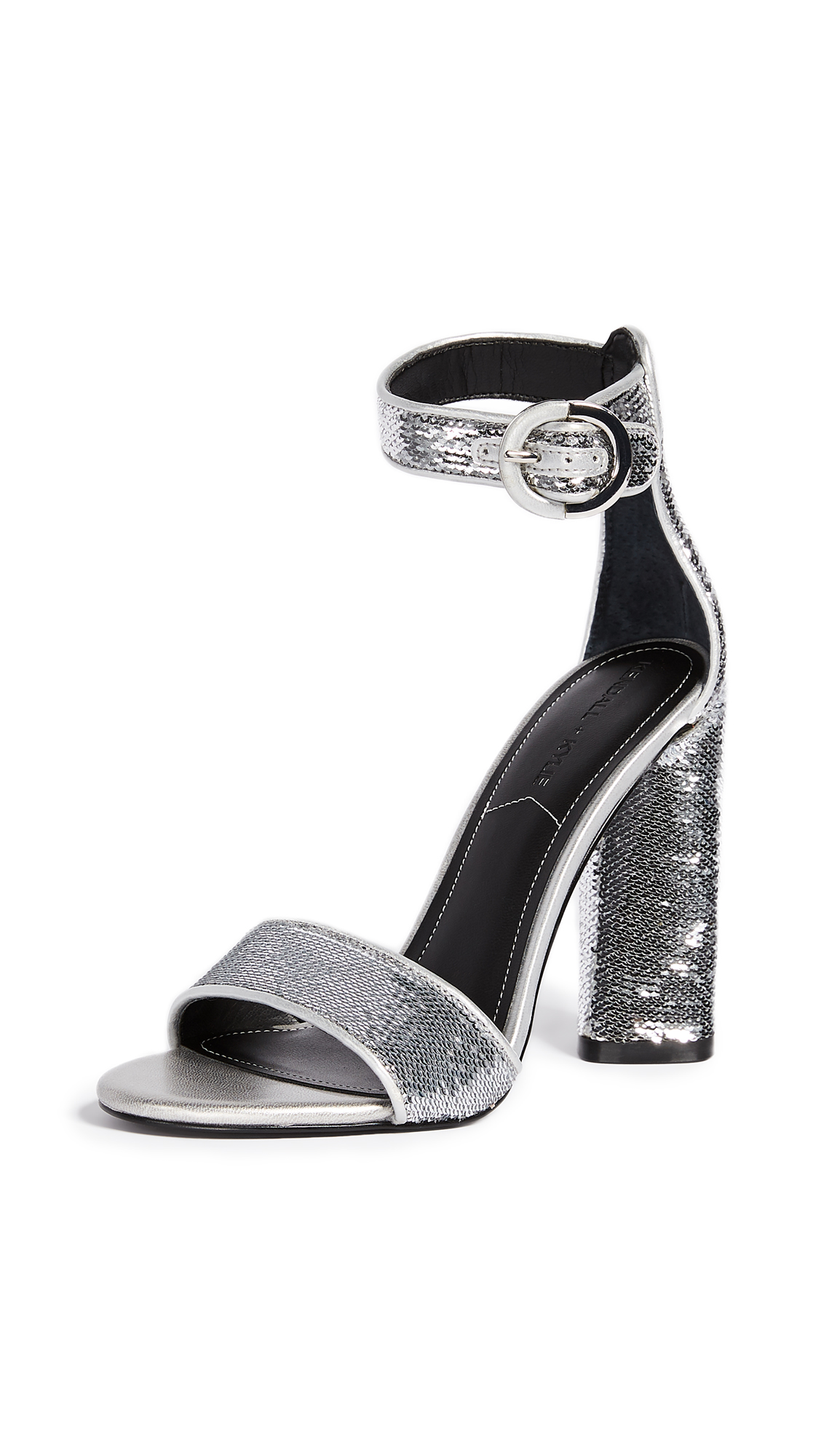KENDALL + KYLIE Giselle Ankle Strap Sandals - Silver/Silver