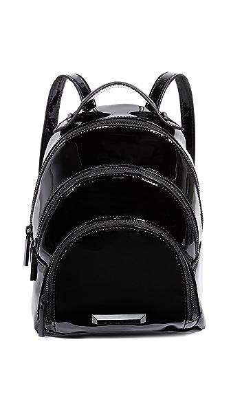 KENDALL + KYLIE Sloane Mini Backpack In Black Patent