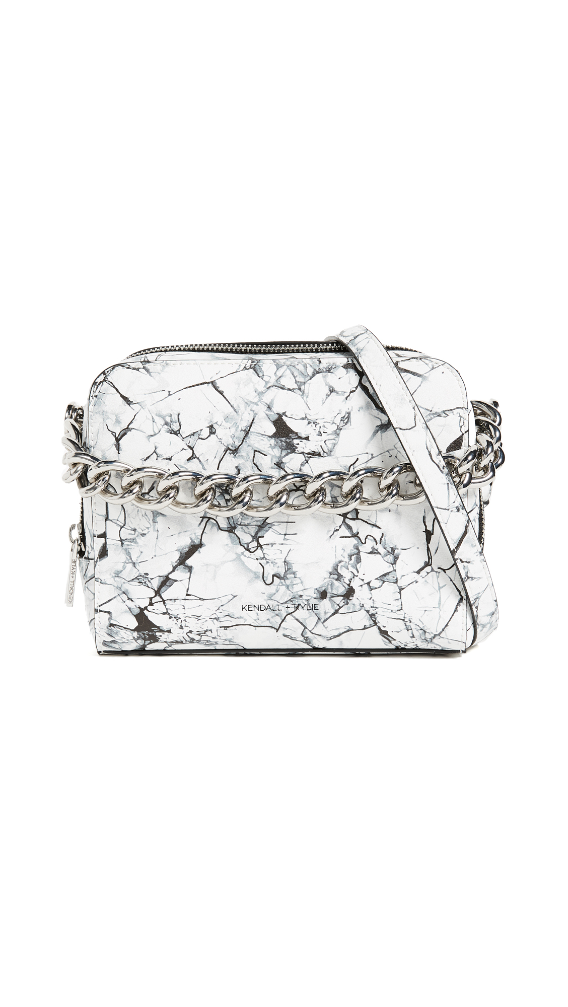 KENDALL + KYLIE Lucy Cross Body Bag - White Marble