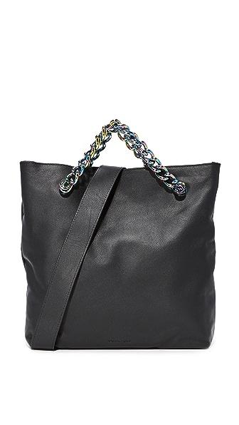 KENDALL + KYLIE Van Fold Over Cross Body Bag - Black