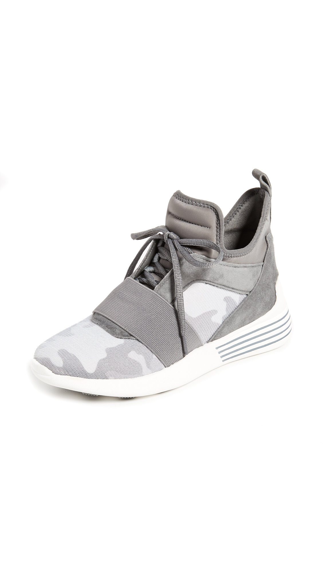 KENDALL + KYLIE Braydin Sneakers - Silver/Grey/Camo