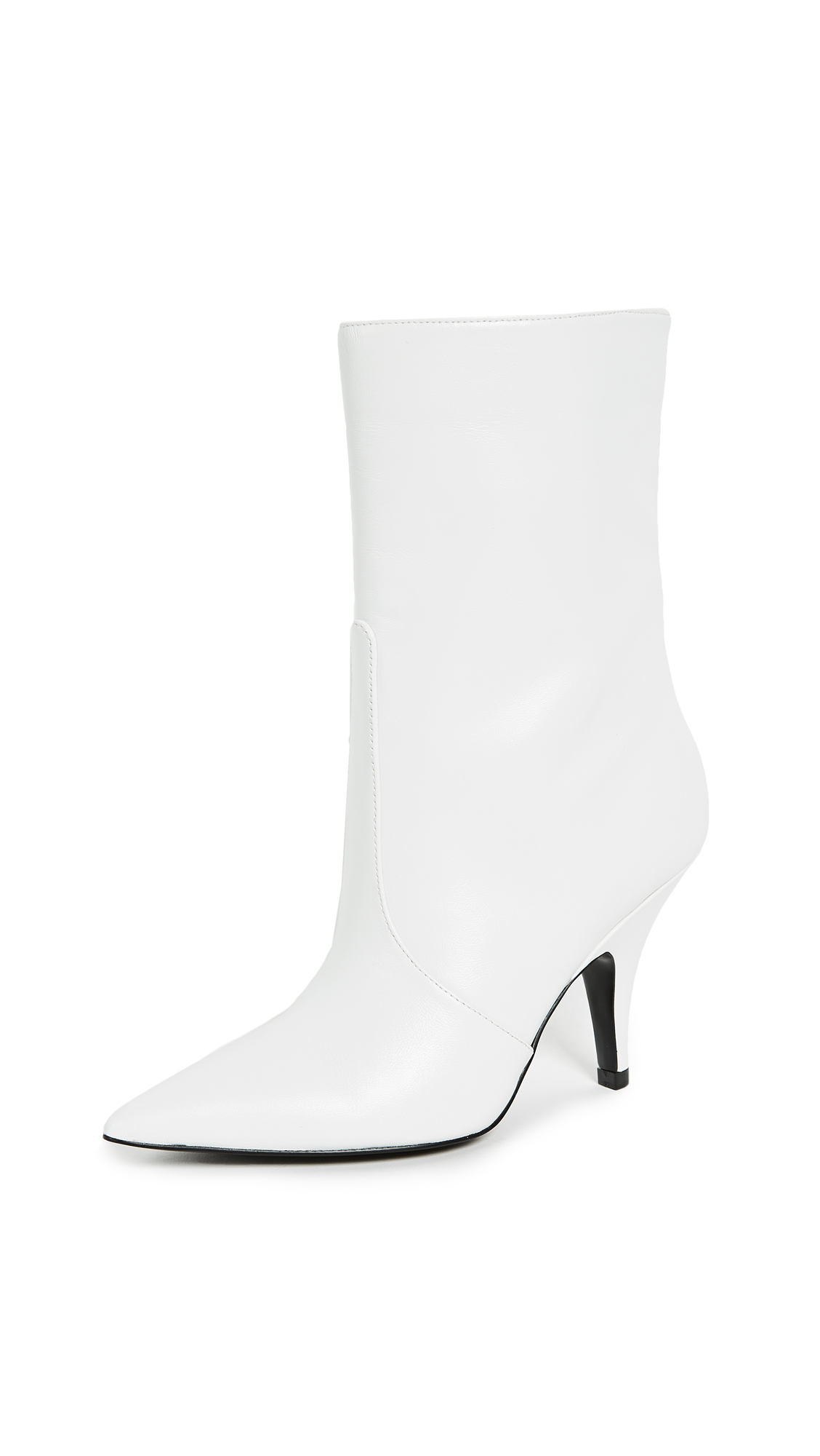 KENDALL + KYLIE Calie Point Toe Boots - White