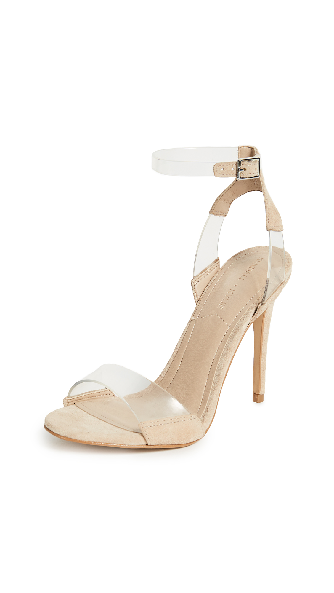 KENDALL + KYLIE Enya Ankle Strap Sandals - Clear/Nude