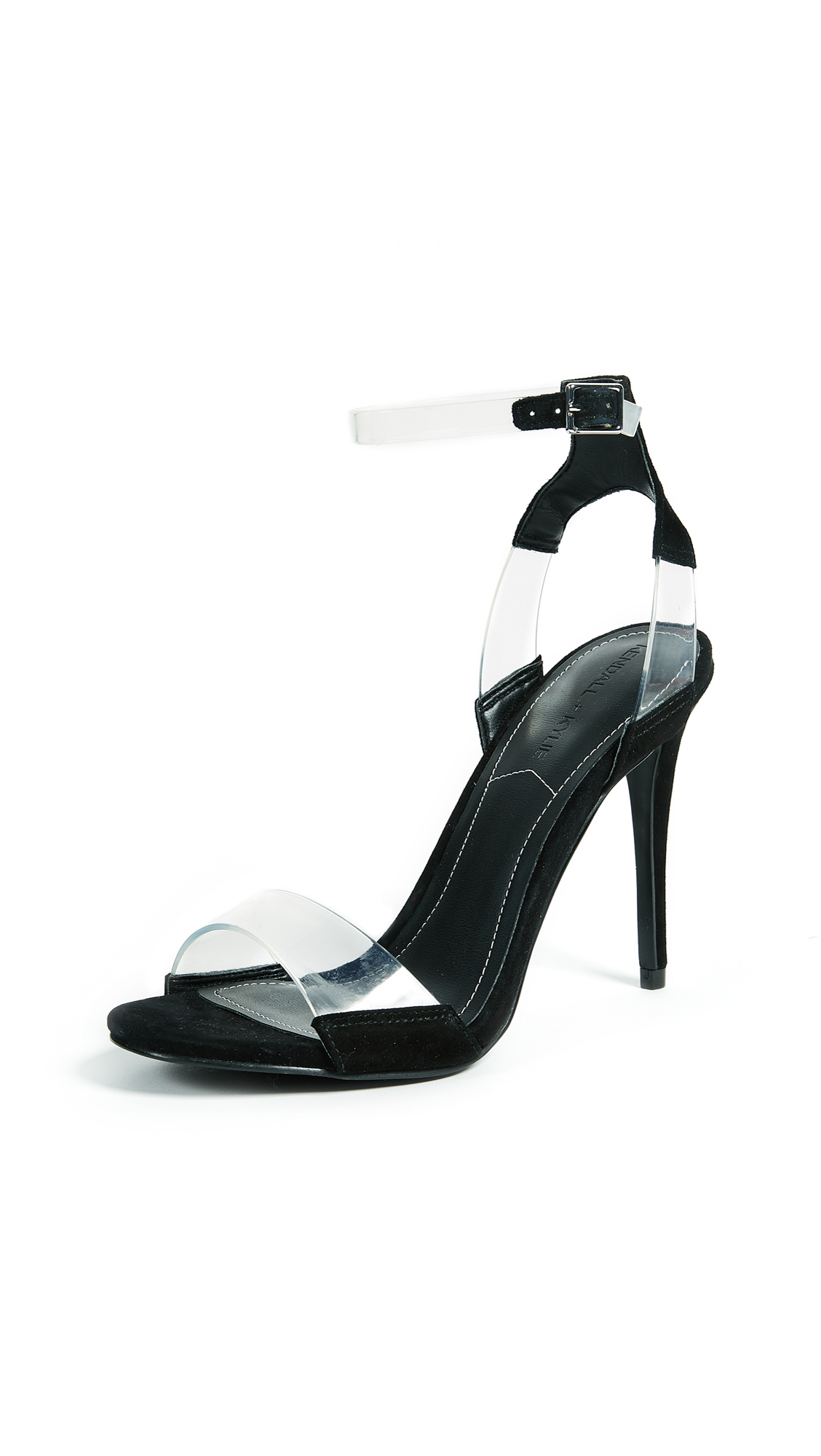 KENDALL + KYLIE Enya Ankle Strap Sandals - Clear/Black