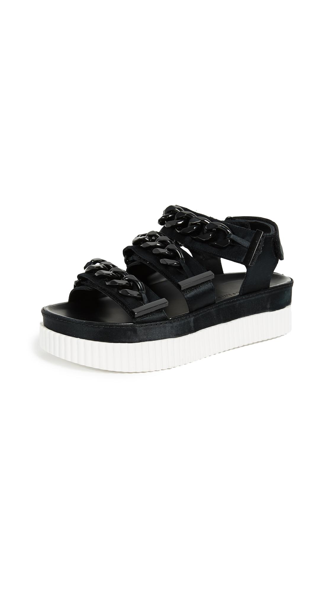 KENDALL + KYLIE Ivie Platform Chain Sandals - Black