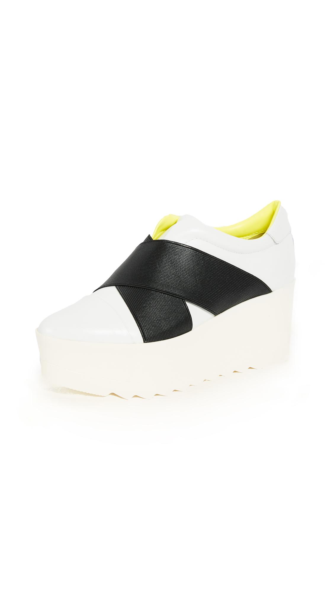 KENDALL + KYLIE Tasha Platform Flats - White