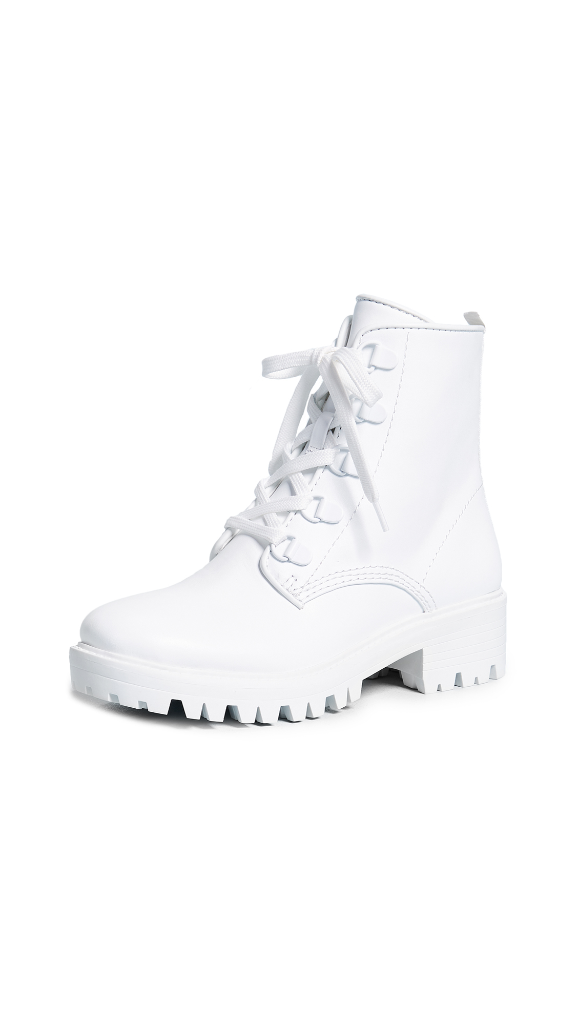 KENDALL + KYLIE Epic Combat Boots - White