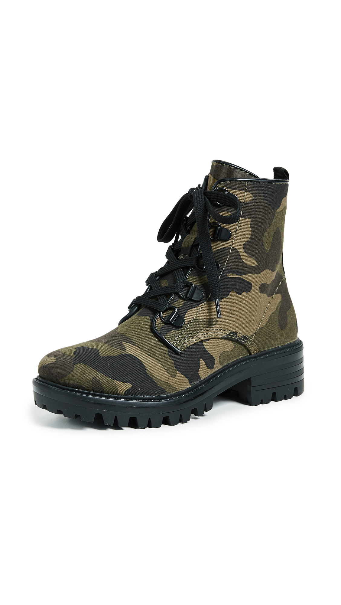 KENDALL + KYLIE Epic Combat Boots - Dark Green