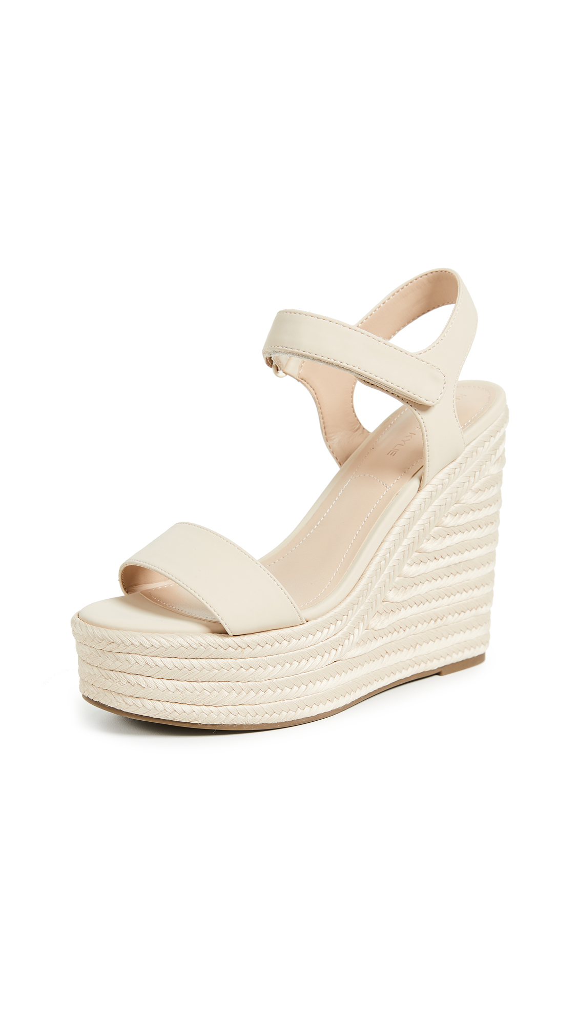 KENDALL + KYLIE Grand Wedge Espadrilles - Natural