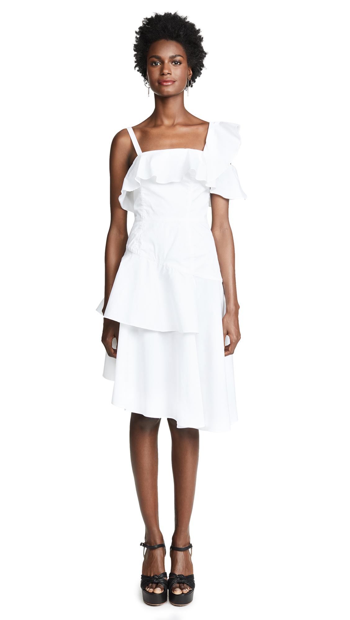KENDALL + KYLIE One Shoulder Flutter Dress