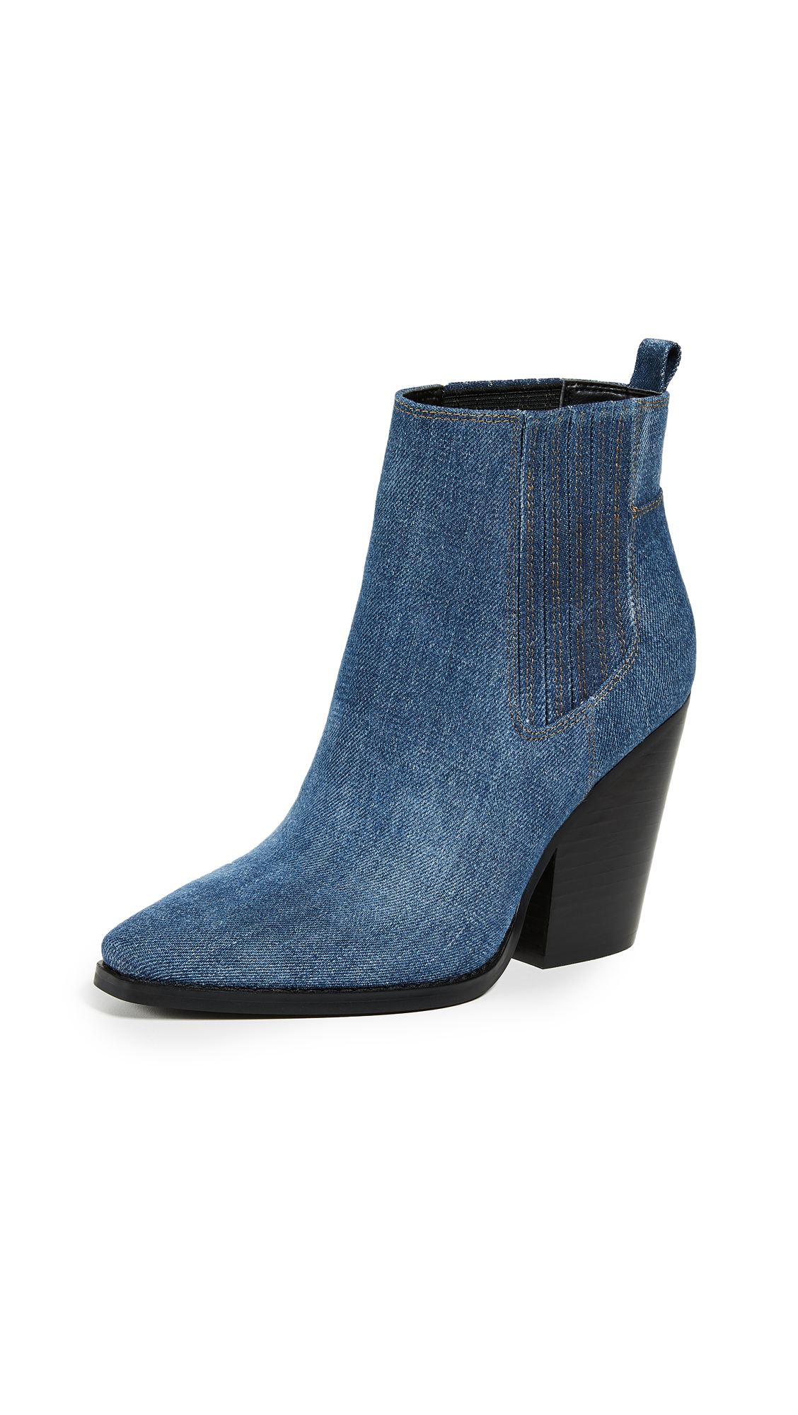 KENDALL + KYLIE Colt Western Booties In Denim