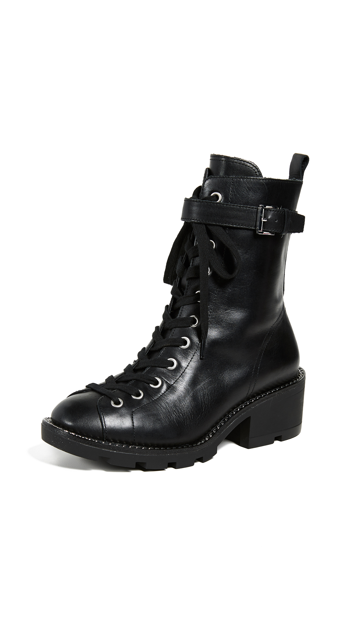 KENDALL + KYLIE Prime Combat Boots - Black