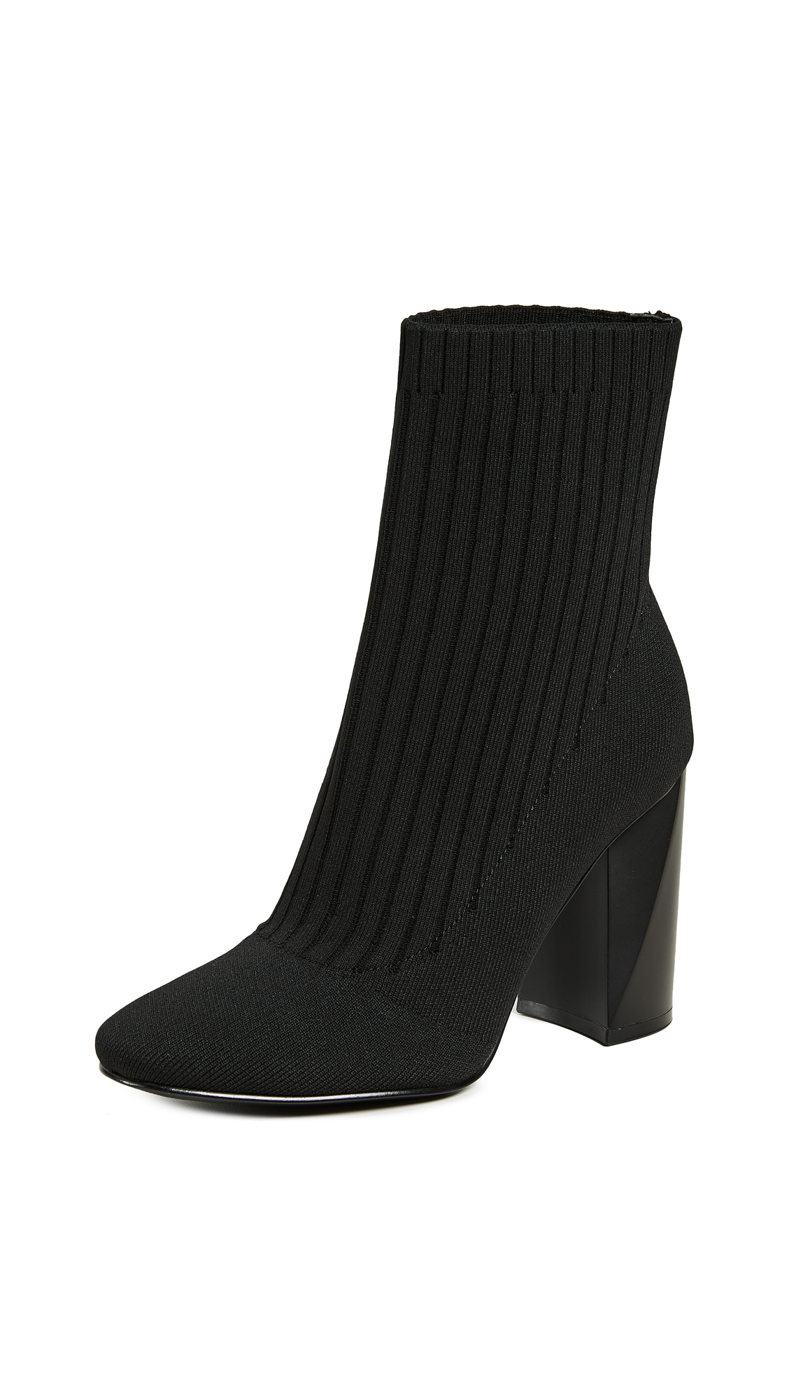 KENDALL + KYLIE Tina Knit Ankle Boots in Black