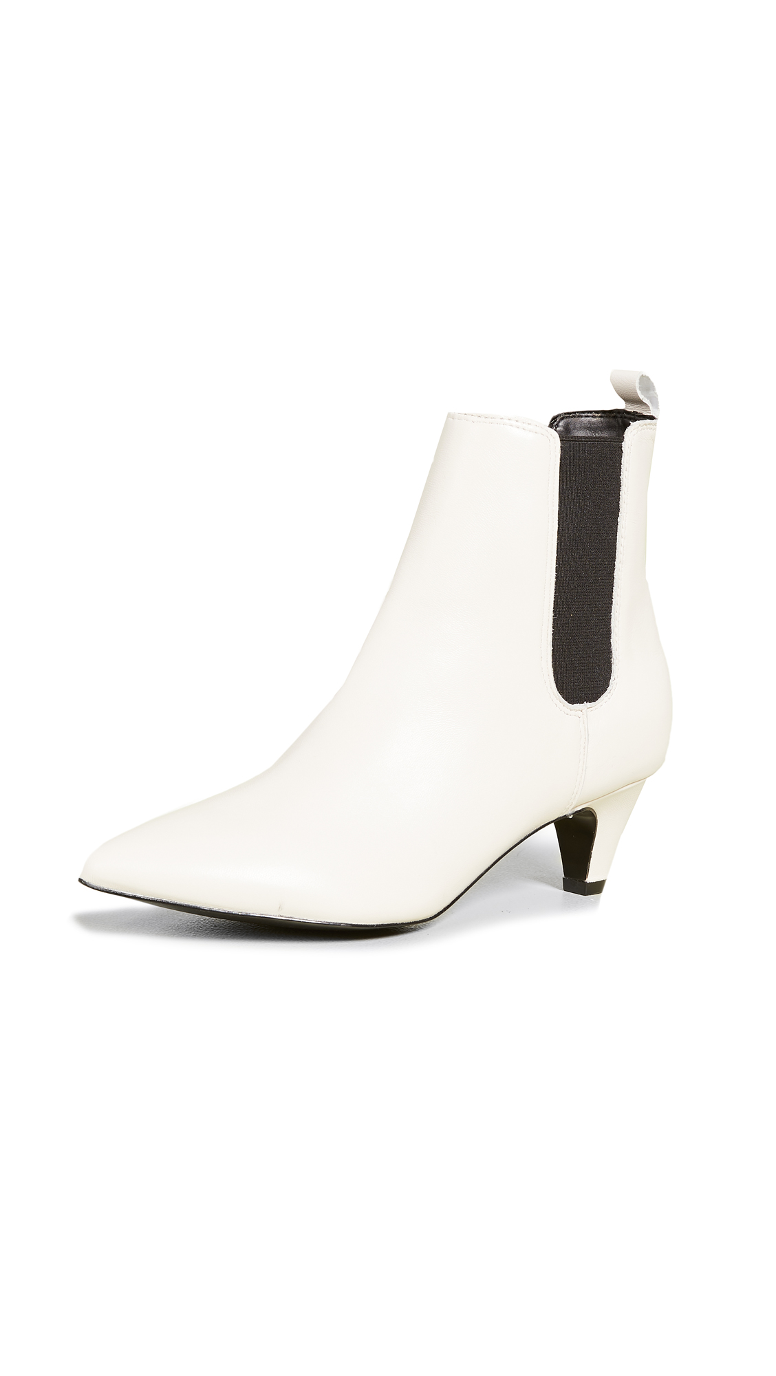 KENDALL + KYLIE Pierce Point Toe Booties - Ivory Multi