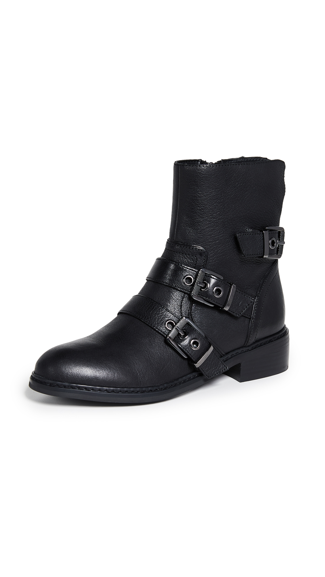 KENDALL + KYLIE Nori Moto Boots - Black