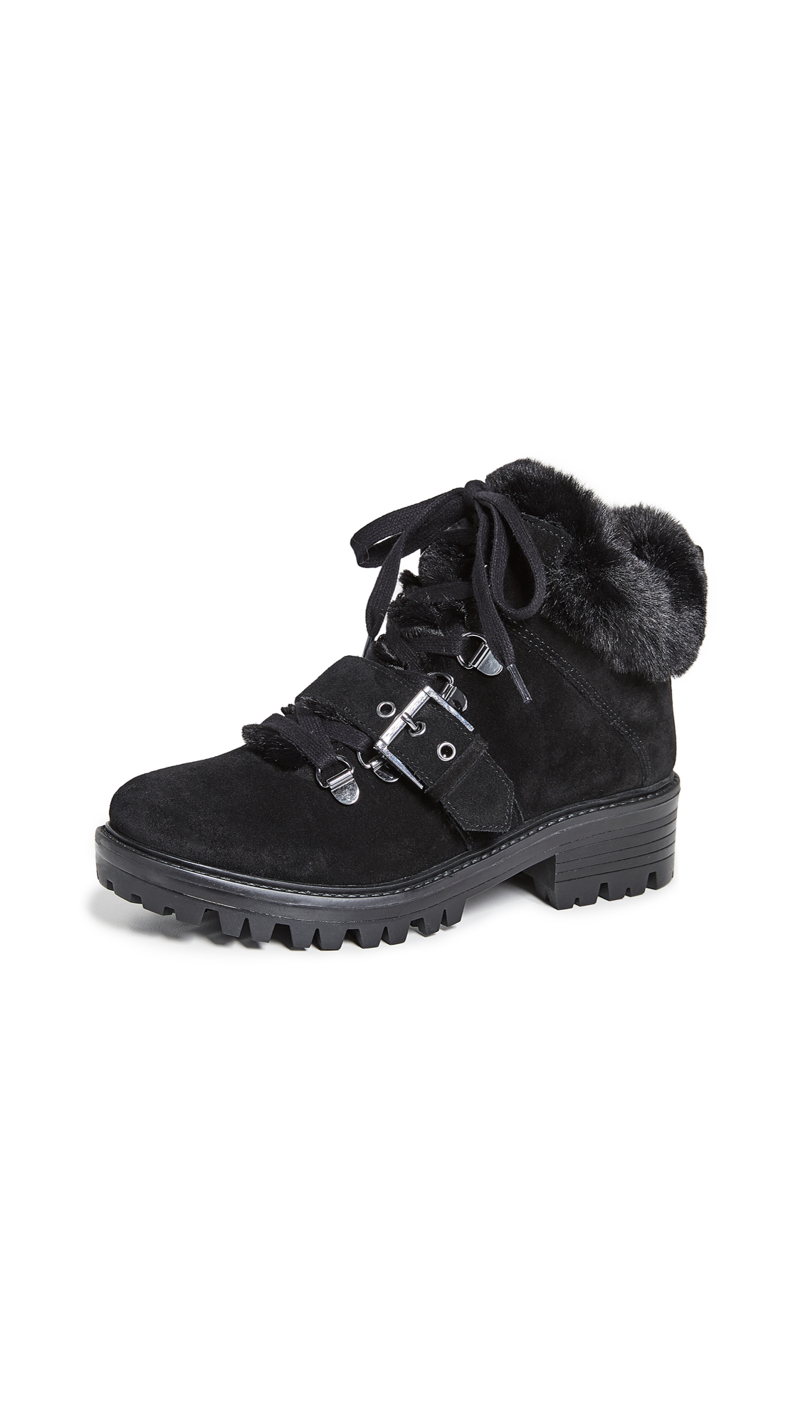 KENDALL + KYLIE Edison Combat Boots - Black